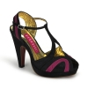GIGGLE-02 Black/Burgundy Satin